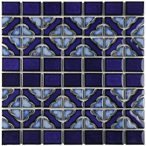 - SomerTile FKOSQD24 Faro Delta Porcelain Floor and Wall Tile, 12