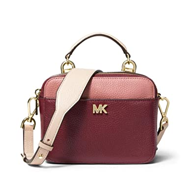 8945fa8a40ccac MICHAEL Michael Kors Mott Mini Color-Block Pebbled Leather Crossbody in  Rose: Amazon.co.uk: Shoes & Bags