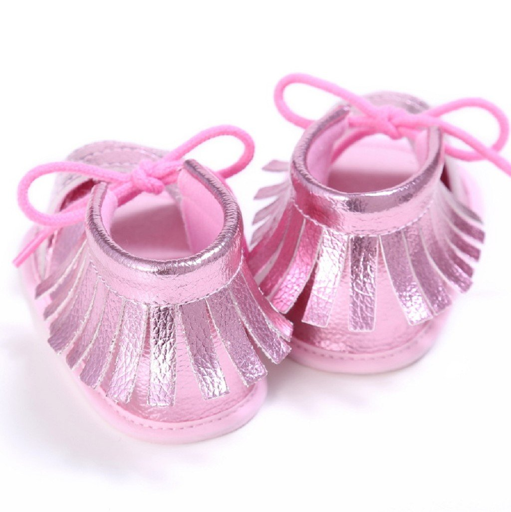 Baby Schuhe Auxma Baby M/ädchen Sommer Quasten Sandalen Schuhe Prewalker f/ür 3-6 6-12 12-18 Monat 3-6 M, Gold