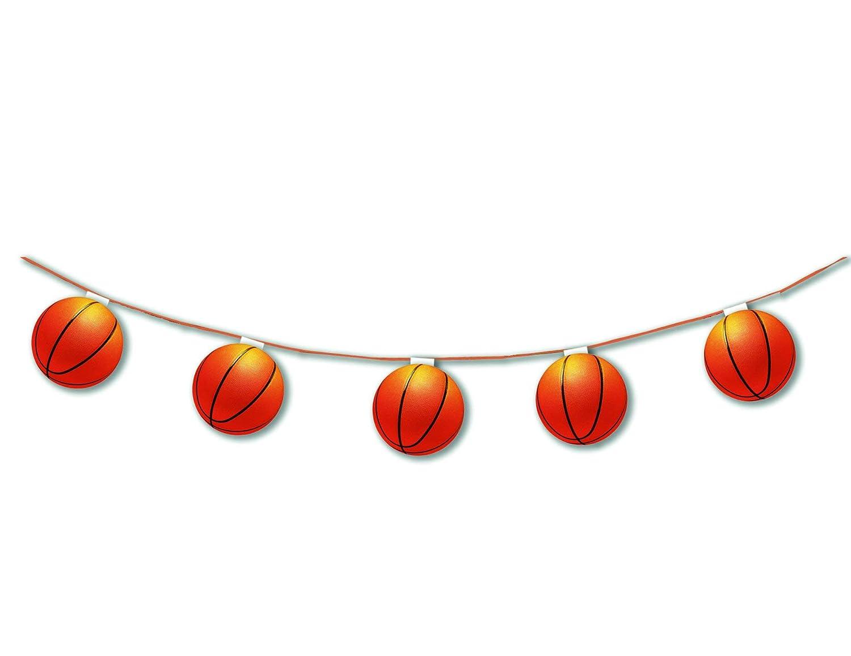 1 Garland - Baloncesto - Papel ignífugo - 8 globos de 17 cm - 3.20 ...