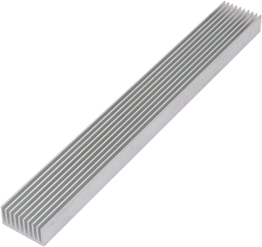 uxcell 3Pcs Heat Diffuse Dissipation Chipset Aluminium Heatsink Cooling Fin 196mmx25mmx12mm