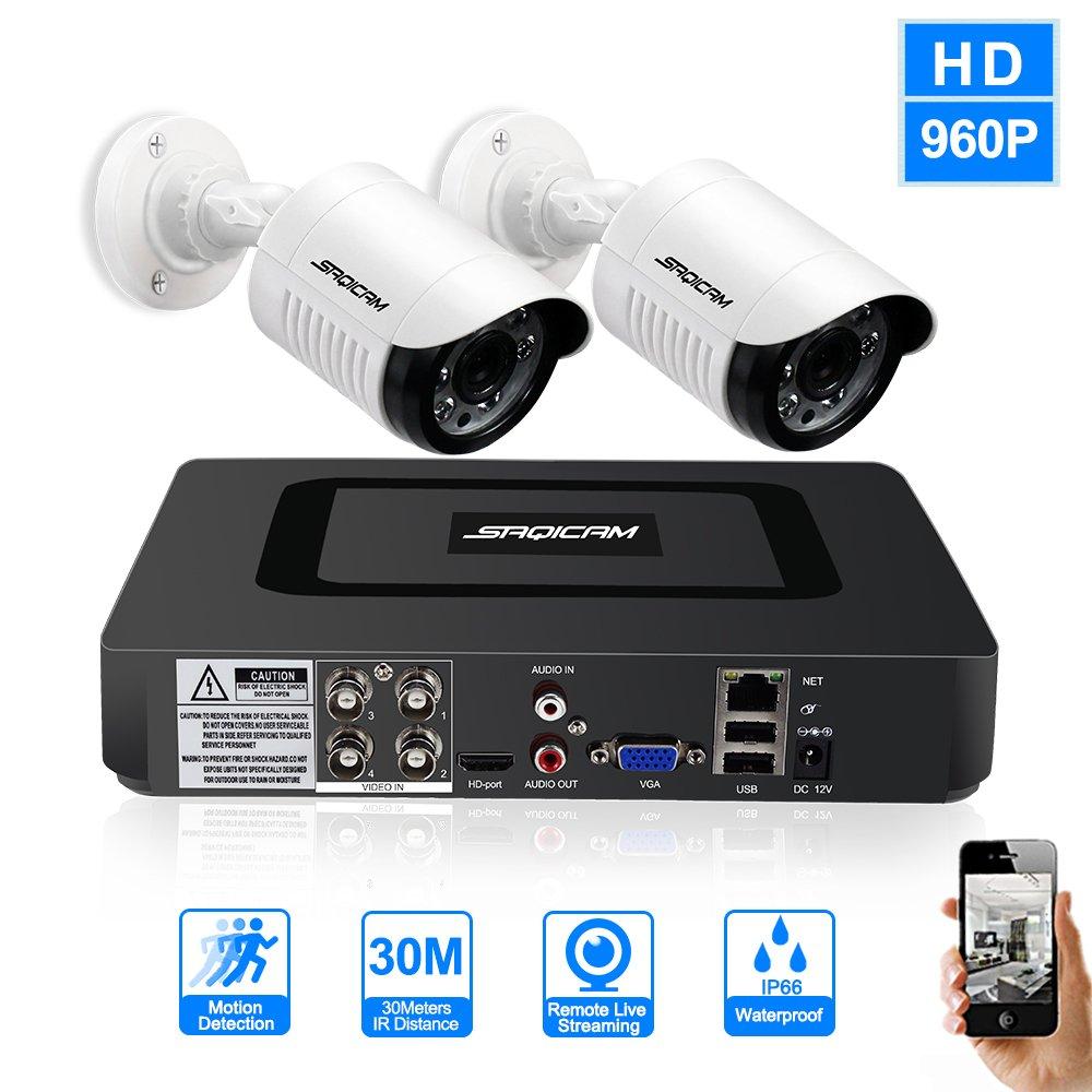 定番  SAQICAM 4Ch Cctvカメラシステム960P Ahd 2本1200Tvl Ir屋外暗視カメラCctv 4Ch Ahd 1080Nセキュリティ監視Dvrキット SAQICAM、モーションアラート、スマートフォン&Pc簡単なリモートアクセス B07D263Z18, キタシゲヤスチョウ:2f4c3e71 --- martinemoeykens-com.access.secure-ssl-servers.info
