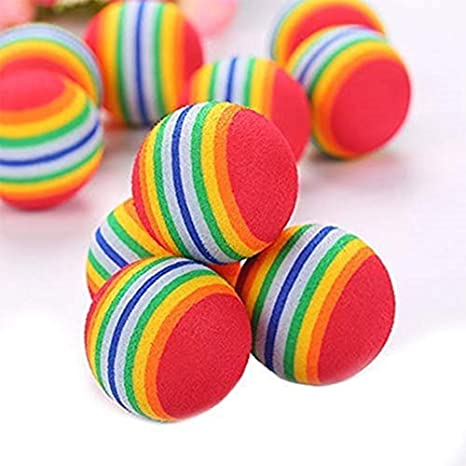 Belingeya 10 Bolas de Gato de Colores para Juguetes, Pelotas de Espuma EVA, Pelotas
