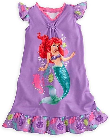 Disney Princess Ariel The Little Mermaid Girls Nightgown Dorm Pajamas