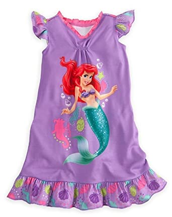 83cf9066ac Disney Store Girls Princess Ariel Nightgown Nightshirt  Little Mermaid  Sleepwear (7-8)