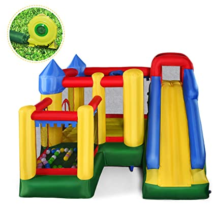 Amazon.com: giantex Mighty hinchable Bounce Casa Castillo ...