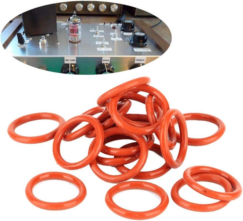 20pcs Tube Damper Silicone Rings Fit for 12AX7 12AU7 12AT7 12BH7 EL84 Qiilu Tube Damper Ring
