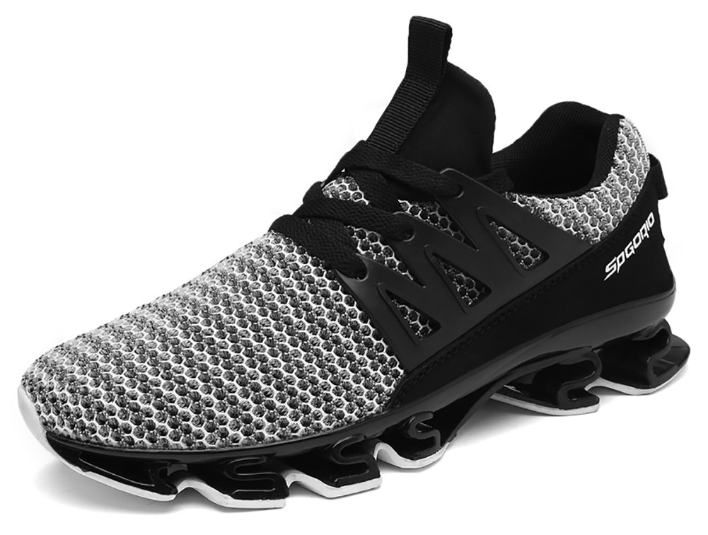 COSDN Women's Men's Breathable Jogging Mesh Sneakers Athletic Tennis Running Shoes B07DC9XDWY (US)mens 10|Grey