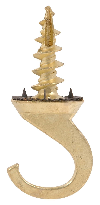 The Hillman Group 122413 Brass Driller Hook Ceiling Hanger 1 Pack
