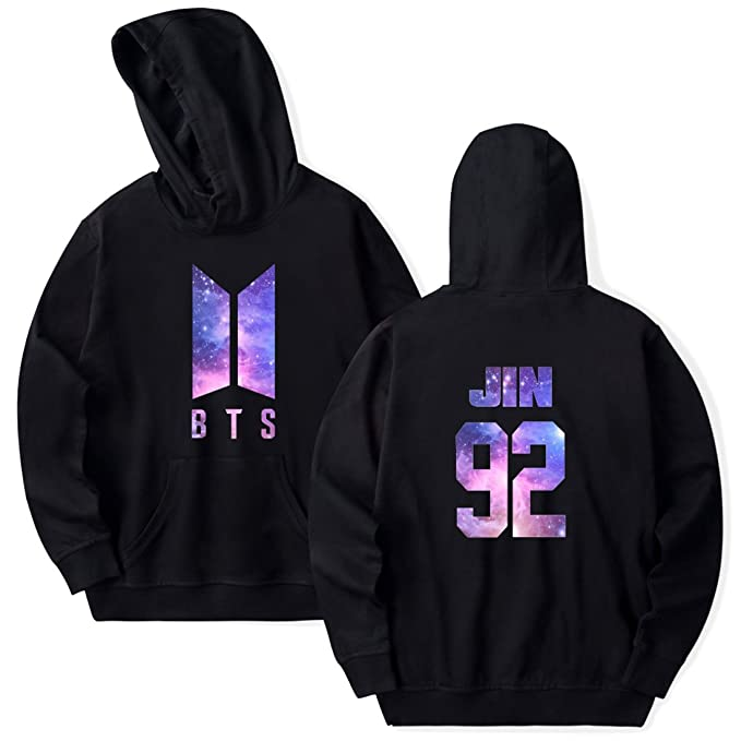 e1d00df41c1cf EMILYLE Women s BTS Galaxy Hoodies Bangtan Boys Warm Jumper Jin Suga ...