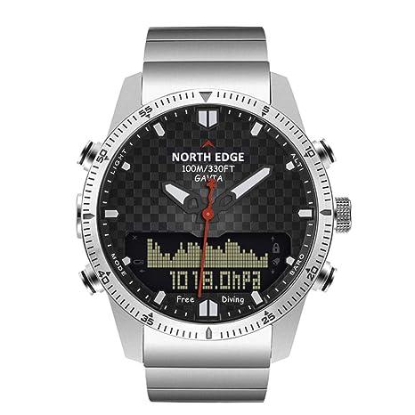 Gskj Reloj de Hombre Reloj Inteligente Moda Altura presión del Aire Reloj de Buceo Doble Pantalla