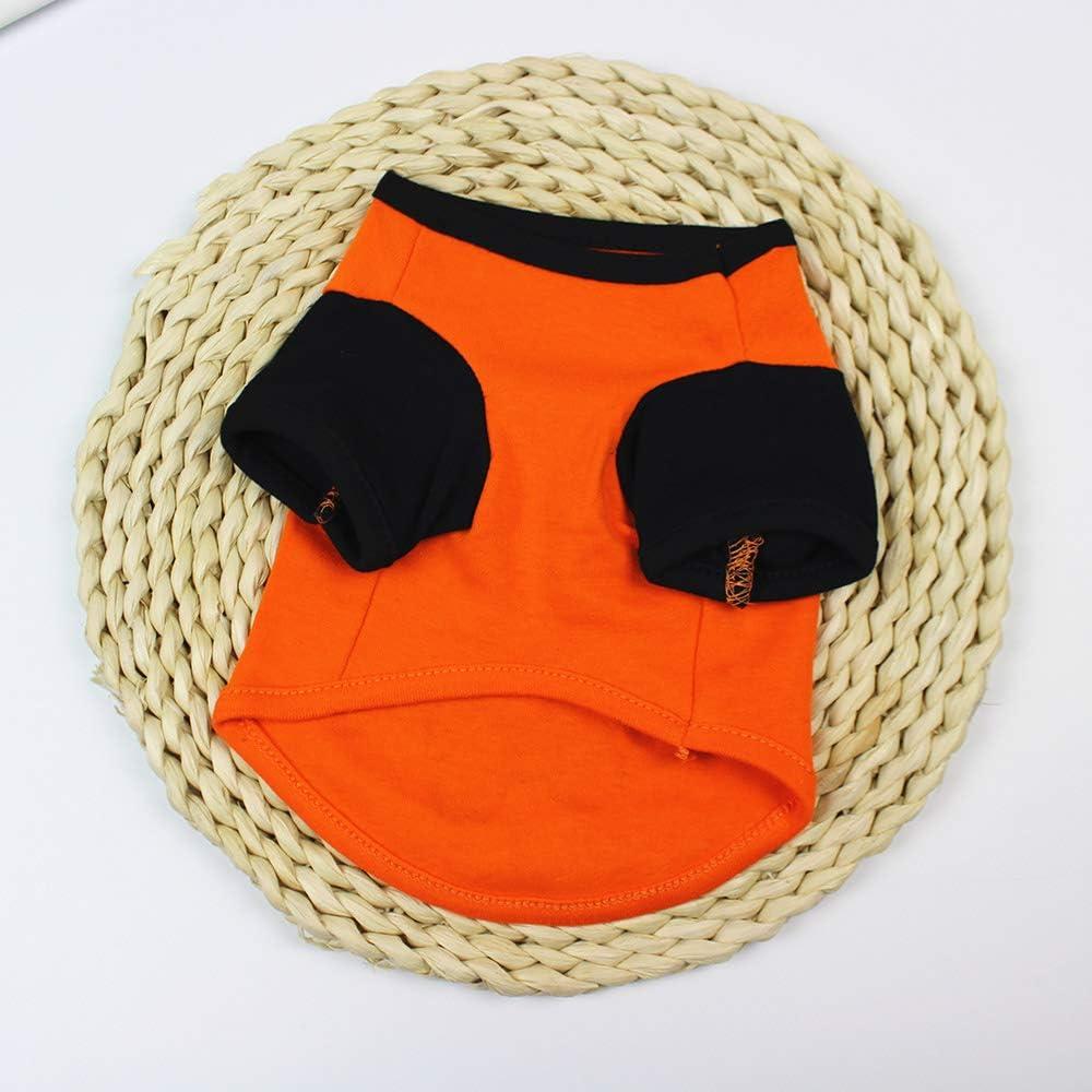 Winthai Ropa de Mascota Linda Perro Gato Camiseta Chaleco Manga Halloween Fiesta Trajes Suministros para 3-4kg Pomerania maltesa Shih Tzu franc/és Bulldog Verde