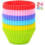 Yarssir 24 Pack Rainbow Bright Standard Silicone