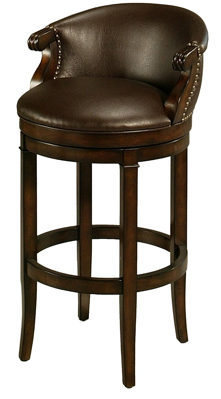 Amazon.com Impacterra Princetown Swivel Stool Distressed Cherry/Bonded Ridge Leather Counter Height Kitchen u0026 Dining  sc 1 st  Amazon.com & Amazon.com: Impacterra Princetown Swivel Stool Distressed Cherry ... islam-shia.org
