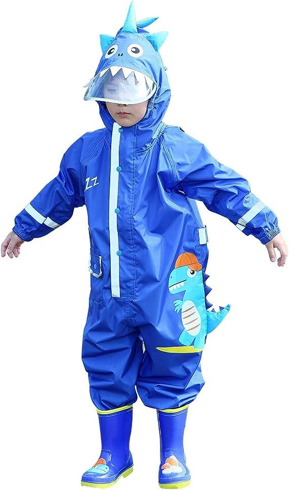 LIVACASA Regenponcho Unisex Wasserdicht Atmungsaktiv Regenmantel Leicht Hautfreundlich Regenbekleidung Regen Overall Regencape Regenjacke Slicker mit Tasche f/ür M/ädchen Jungen