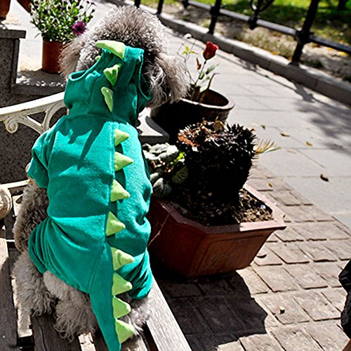 Pet Dinosaur Costume with Hood for Small Dogs & Cats Outfit Winter Coat Warm Jacket (X-Large) - http://coolthings.us