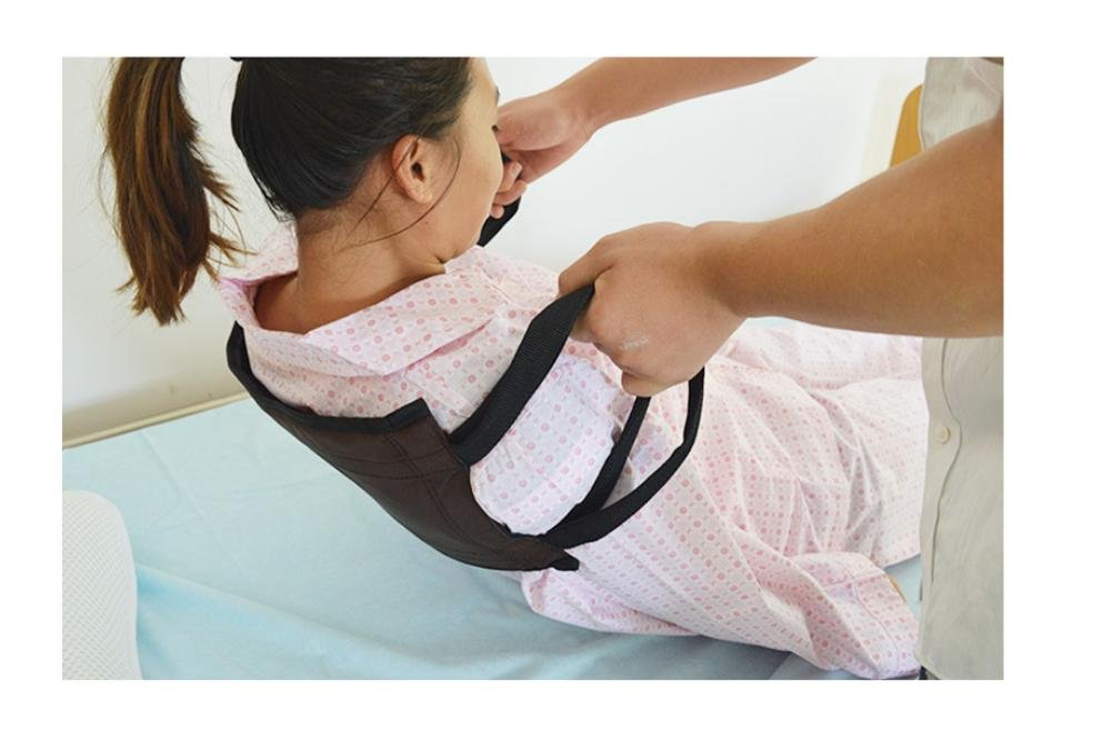 WE&ZHE Get Up Auxiliary Zone Practical / Hemiplegia Nursing Shift Transfer Belt / Bed Care Supplies For Disabled Elderly , black