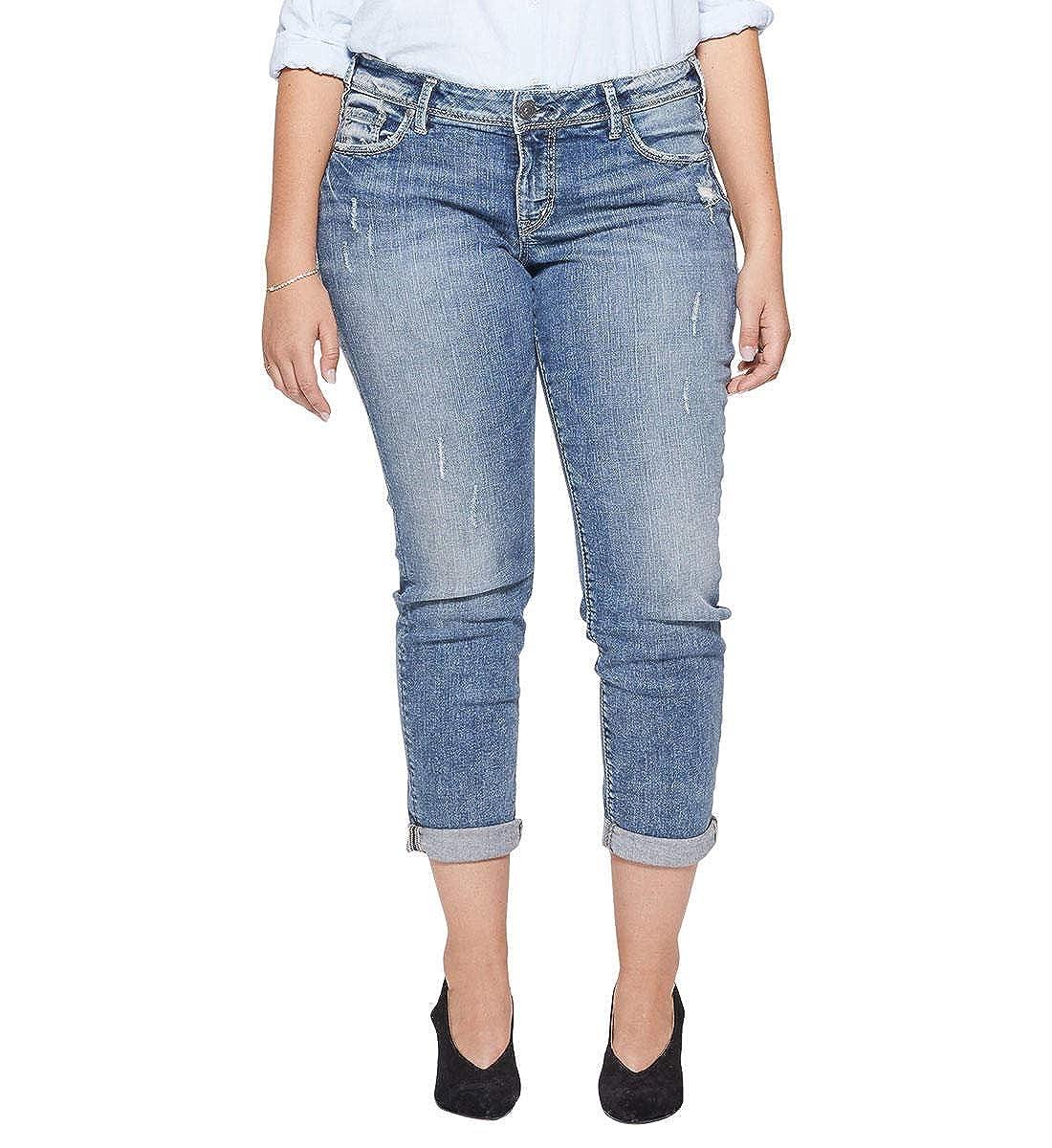 Silver Jeans Co.. Womens Plus-Size Plus Size Sam Mid Rise Boyfriend Jeans W27107SSX333