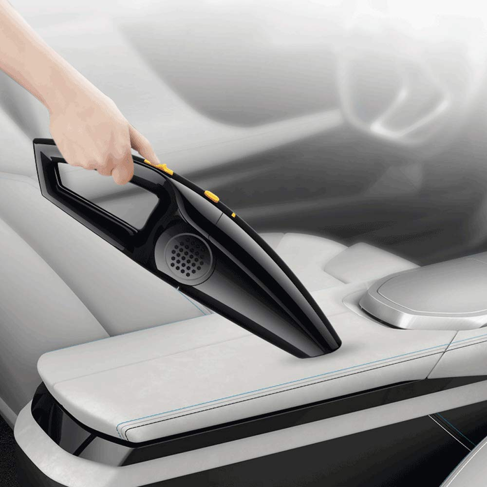 Handle Cordless Wireless Vacuum cleaner, 12V 120W 3.7KPa Portable Rechargeable Vehicle-mounted Vacuum Cleaner with Cyclonic Motor Strong Suction,Wet Dry Amphibious Mini Dust Collector with 2200mah Battery