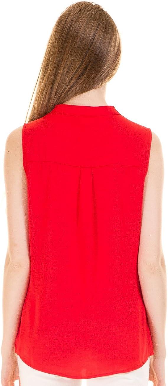 Vila Camisa sin Mangas roja Clothes (XS - Rojo): Amazon.es ...