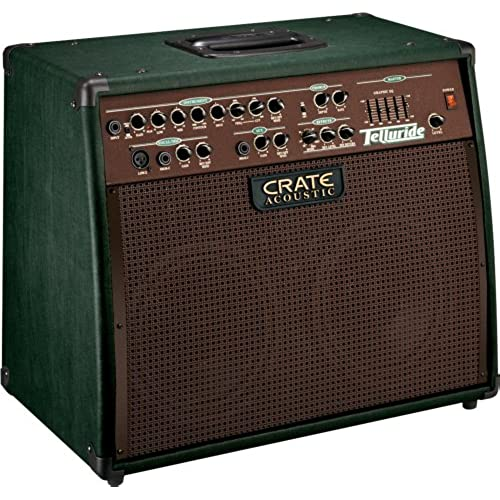 Crate CA125DG Telluride Acoustic Guitar Amplifier, 125 Watt Tri-Amped, 3 Channel Digital Reverb, 2 X 8 & Tweeter