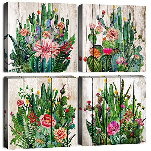 Cactus Wall Art for Living Room Framed Canvas Prints Artwork