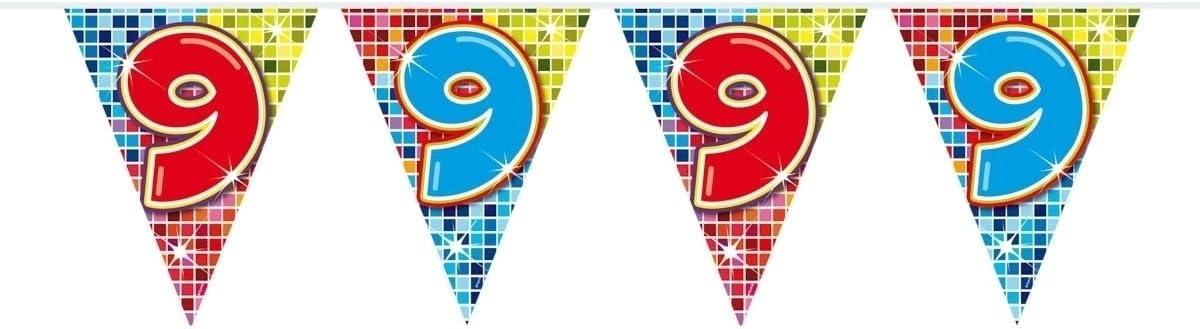 Multicolor 6 Metros Folat 1 A/ño Bandera para Cumplea/ños Fiesta Decoraci/ón