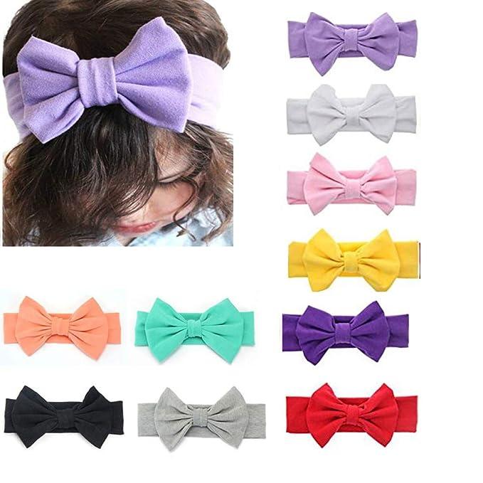 8f53381ee Amazon.com  G-Tree Baby Headbands Turban Knotted Girl Hairbands ...