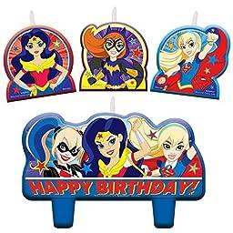DC Super Hero Girls Birthday Candles - Set of 4