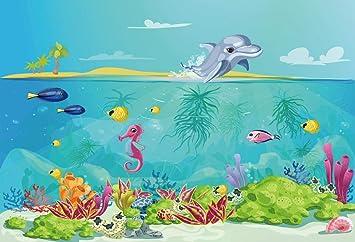 dolphins underwater theme celebrate A Birthday wish Happy Birthday card new