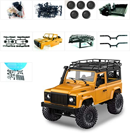 Brucelin 1/12 - Kit de escalera para coche Rock Crawler D90 2,4 G 4 WD, coche teledirigido todo terreno, juguete de control remoto amarillo: Amazon.es: Hogar