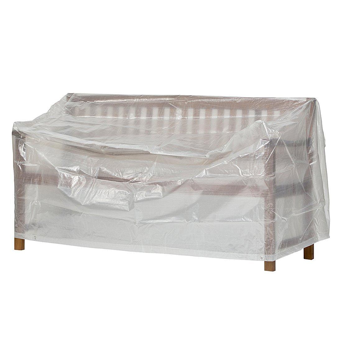 Klassik Schutzhülle für Gartenbank/Landhausbank aus PE-Bändchengewebe - transparent - von 'mehr Garten' - für 3-Sitzer Schutzhüllenprofi