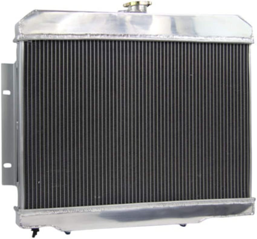 OzCoolingParts 3 Row Core Aluminum Radiator 3.8L 4.2L 5.0 Thermostat//Relay Wire Kit for 1972-1986 73 74 75 76 77 78 79 80 81 82 83 84 85 Jeep CJ5 CJ6 CJ7 Scrambler 2 x 12 Fans w//Louver Shroud