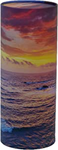 "Casket Depot Memorial Collection Ocean Sunset Sccattering Tube, Biodegradable Urn for Scattering Ashes, Eco Urn, Adult Size 13"" Long (Ocean Sunset)"