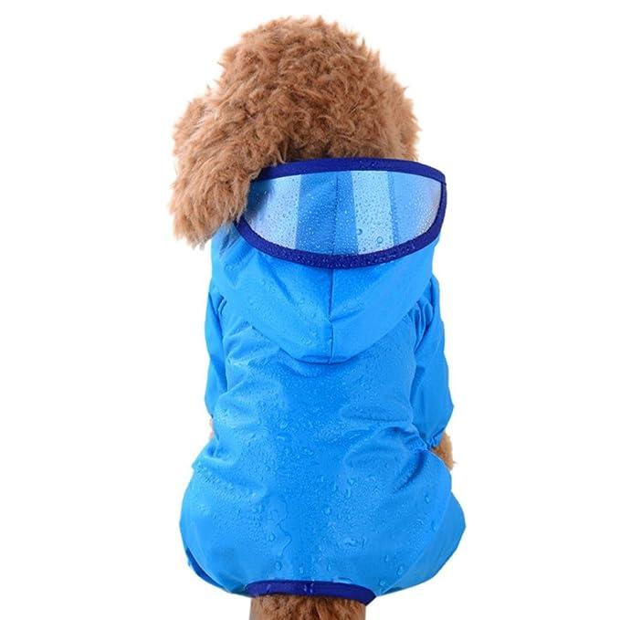 Amazon.com: Sumen pequeño mascota perro chubasquero con ...