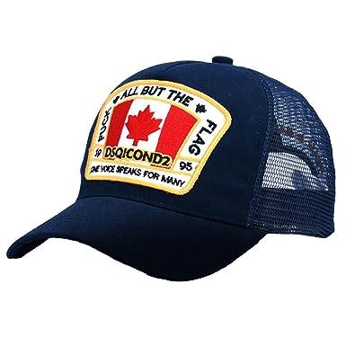 Bokun Snapback Cap Baseball Caps for Men Women Dsq Hip Hop Summer Fall Hat  Navy Blue 4a0cce3fccdb