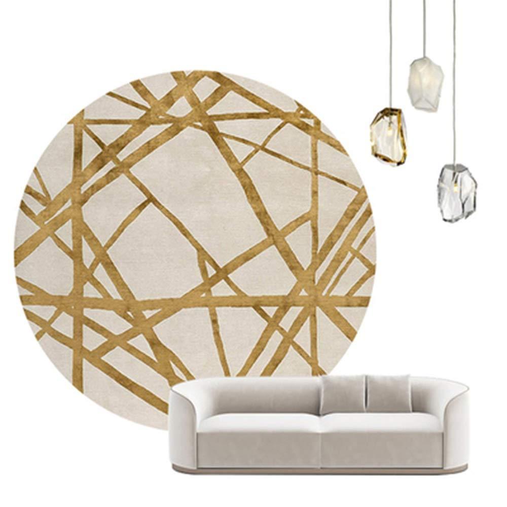 触覚の柔らかいと柔らかい摩擦、リビングルームの寝室のカーペット直径59inの抽象ラウンドカーペットエリアラグ (Color : G) G