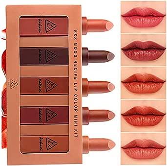 CLOOM Set De Pintalabios Sexy Multicolor Maquillaje Profesional Lápiz Labial con Caja Barra De Labios para Regalo De Novia Impermeable Larga Duración Hidratante Labios Cosmético Lipstick: Amazon.es: Ropa y accesorios