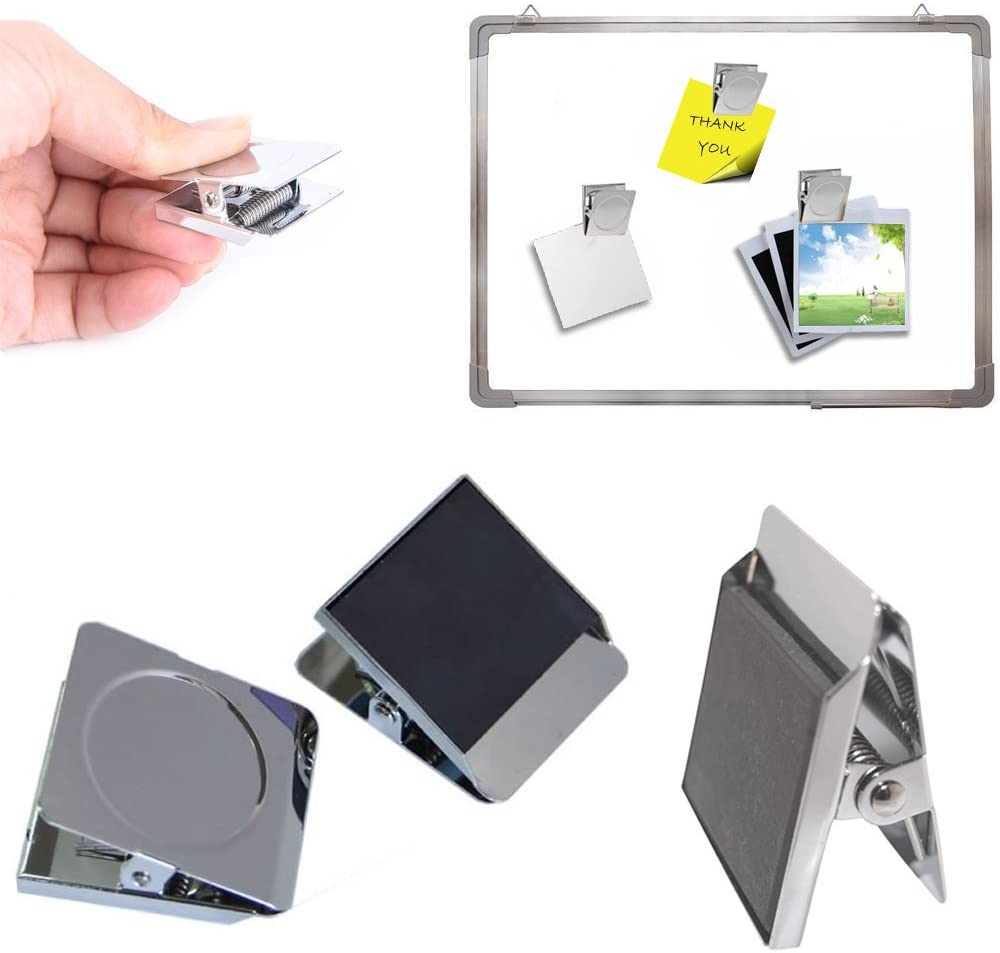 Magnetic Clip Yooap Metal Magnetic Clips Refrigerator Magnet Clamp for Whiteboard Wall Memo Note Magnetic Binder Folder Kitchen Home Usage