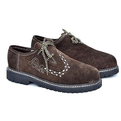 ATTONO - Zapatos de Piel para Traje Tradicional tirolés ...