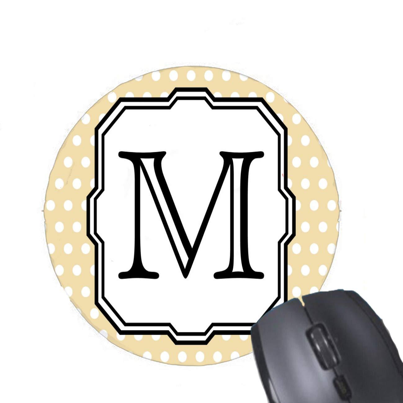 Gaming Mouse Pad Su Carta. Monograma Personalizado. Lunares Beige ...