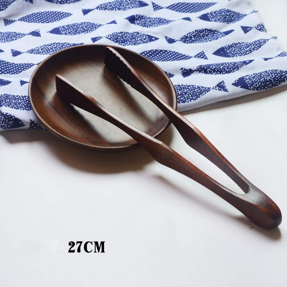 BESTONZON Pinces en bois griller des pains de pain facile salade poign/ée servant pinces cuisson alimentaire clip 27CM