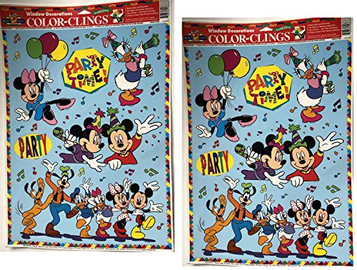 Disney Mickey Minnie Mouse Donald Duck Goofy Static Window Clings Decorations #6833-2 -