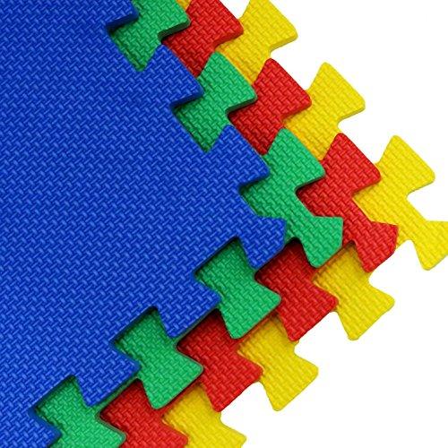 Oypla 64 Sq Ft Interlocking Eva Soft Foam Exercise Floor