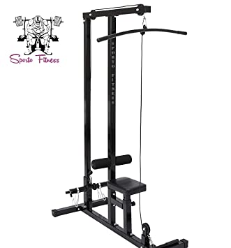 92faebe08428b Buy SPORTO FITNESS Low Row Cable LAT Pull Down Machine Online at Low Prices  in India - Amazon.in