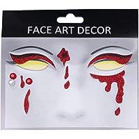 Beaupretty 1 vel Halloween gezichtssticker gezicht edelstenen Tijdelijke tatoeages, glitters, waterdicht, decoratieve…