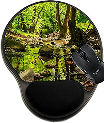 MSD Mousepad wrist protected Mouse Pads/Mat with wrist support design 19555366 mountain stream making way through the rocks and roots in the old forest