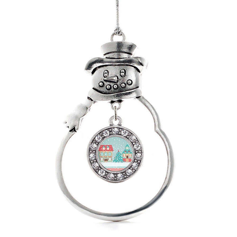 Inspired Silver Winter Wonderland Snowman Christmas Tree Ornament