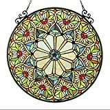 Chloe Lighting Sunny, Tiffany-Glass Floral Window Panel 23.5″ Review