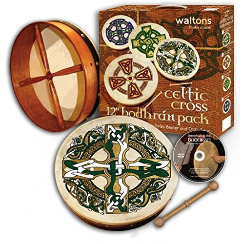 Waltons Bodhran Pack 12'' Gaelic Cross by Bodhran
